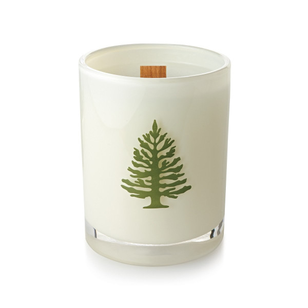 Thymes Frasier Fir Seasonal Poured Candle, Wood Wick