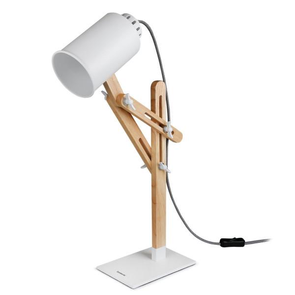 Tomons Led Desk Lamp Wooden Multi-Angle Swing Arm Designer Table Office LED Lamp Bedside Nightstand Reading Study Work Lamp Light