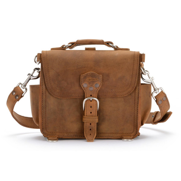 Saddleback Leather Small Round Satchel, Tobacco