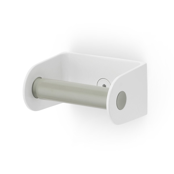 Sabi Roll Toilet Paper Dispenser with Spring-Loaded Roller, Gray