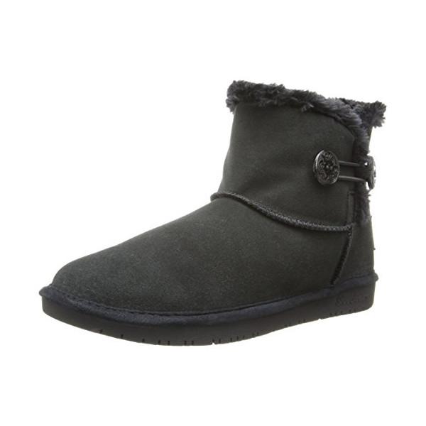 Skechers Women's Shelby's-Ottowa Snow Boot,Black,8.5 M US