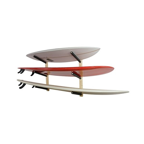 Surfboard Wall Rack | Basic Wood Surf Rack | 3 Boards | StoreYourBoard