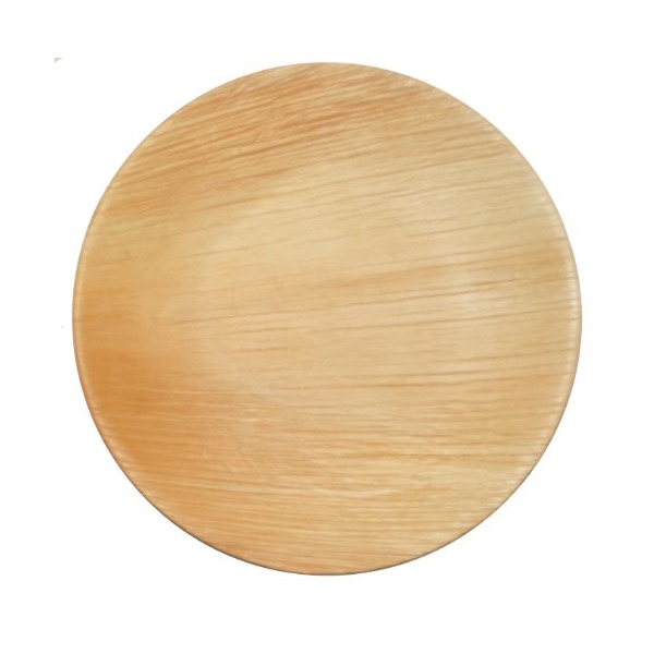 Leaf & Fiber Natural Palm Round Plate, 9-Inch