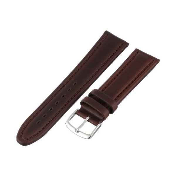 Hadley-Roma Men's MSM882RB-200 20-mm Brown Genuine Oil-Tan Leather Watch Strap