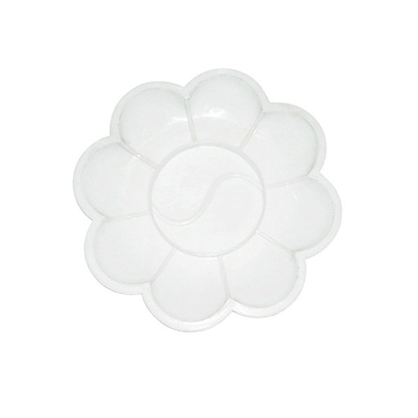 Generic Nail Art Palette White White Acrylic Color 5pcs Dish Flower