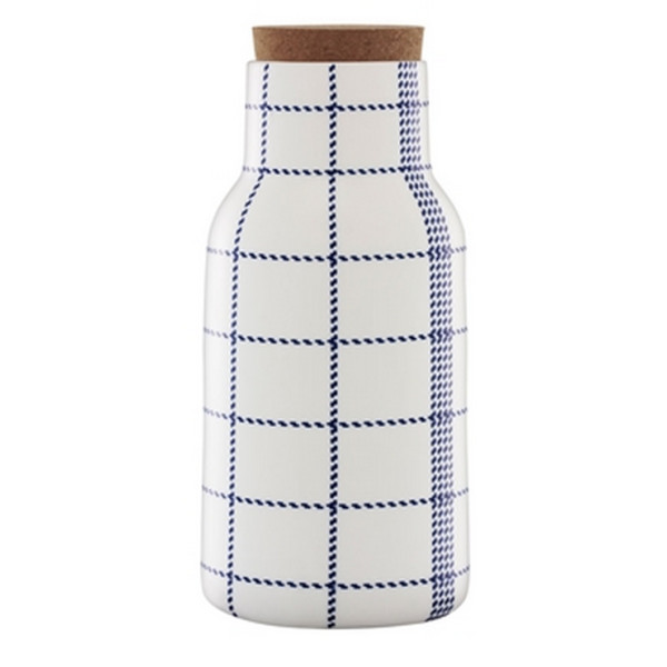 Normann Copenhagen Mormor Blue Carafe, Cork and Ceramic