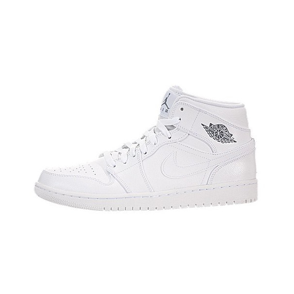 Nike Jordan Men's Air Jordan 1 Mid White/Cool Grey/White Basketball Shoe 10 Men US