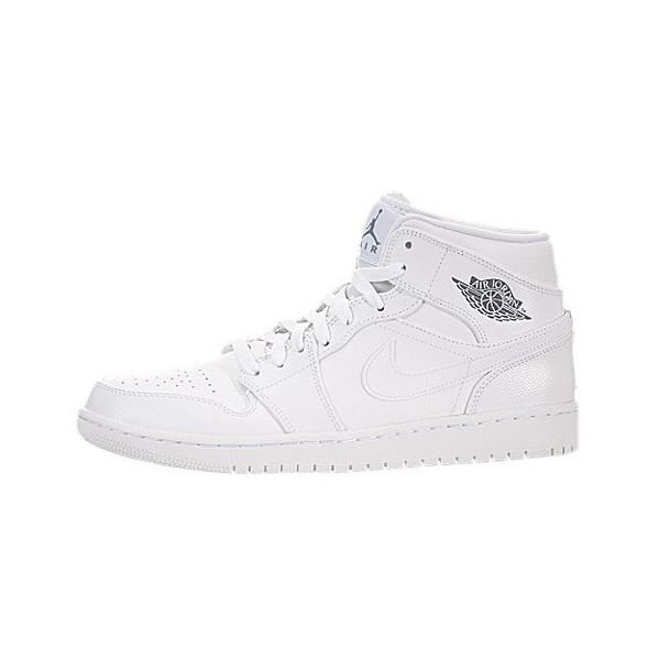 Nike Jordan Men's Air Jordan 1 Mid White/Cool Grey/White Basketball Shoe 10 Men US