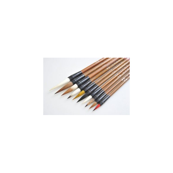 20-Piece Traditional Chinese Calligraphy / Sumi Brush Set with Multi-Colored Tips and Gift Box (CBS-05 US)