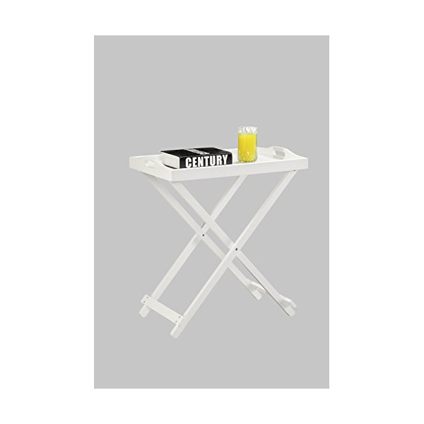 Convenience Concepts Folding Tray Table, White