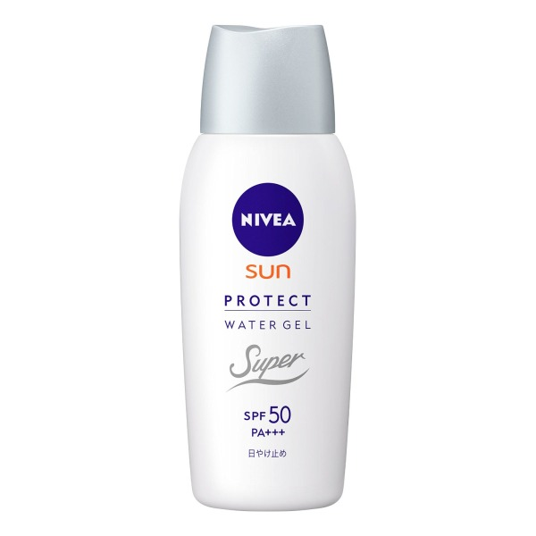 NIVEA Sun Super Water Gel 80g - SPF50 PA+++ | No Scent | Remove by Soap | for Face and Body | Moisture Ingredients - Collagen & Hyaluronan(Japan Import)