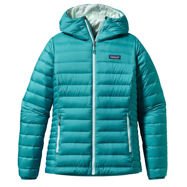 Patagonia Women's Down Sweater Hoody, Tobago Blue
