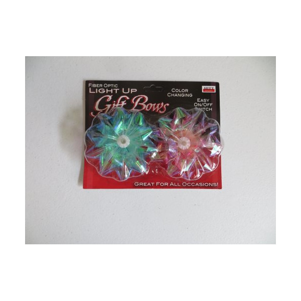 Fiber Optic Light up Gift Bows