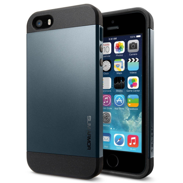 Spigen Slim Armor Case for iPhone 5/5S, Metal Slate