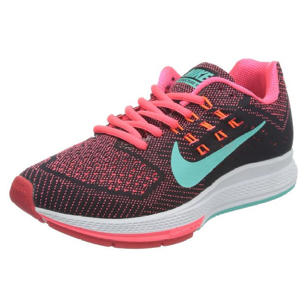 Nike Women's Air Zoom Structure 18 Hypr Pnch/Hypr Trq/Blk/Ttl Orn Running Shoe 9.5 Women US