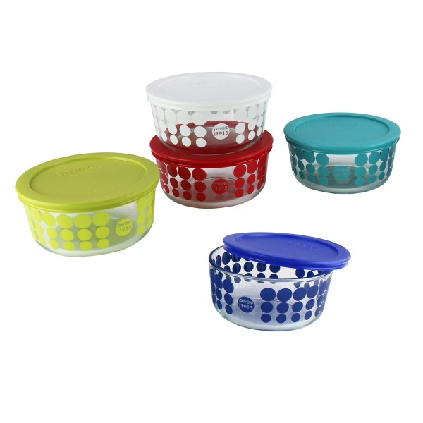 Pyrex Simply Store 10-Piece 100 Year Glass Food Storage Set