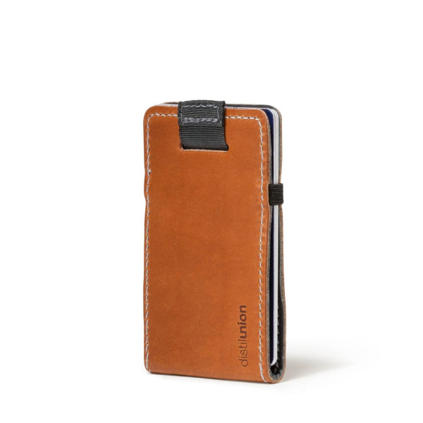 Distil Union - Wally Micro, The unbelievably minimal, reversible leather slim-sleeve wallet - Gray/Brown