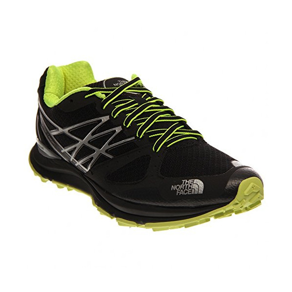 The North Face Ultra Cardiac Trail Running Shoe - Men's TNF Black/Dayglo Yellow 11.5