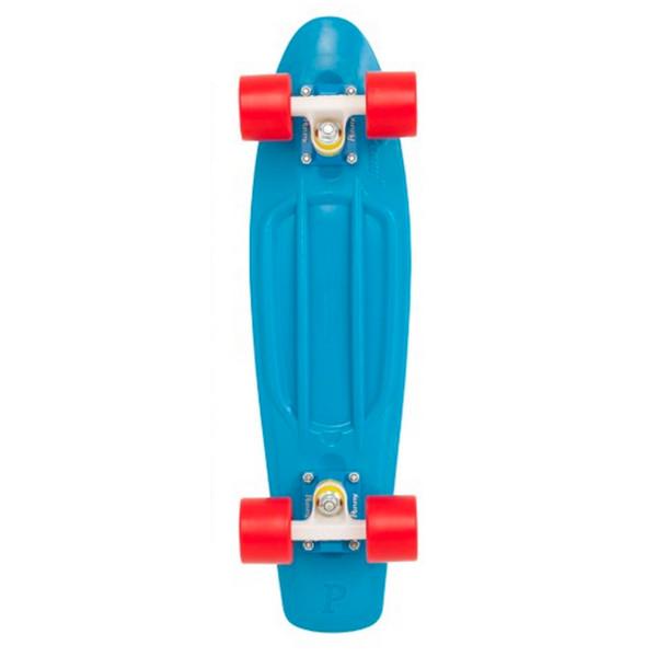 Penny Skateboard Cyan Deck/White/Red, 22-Inch