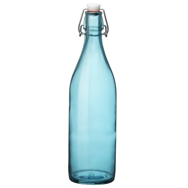 Bormioli Rocco Giara Bottle Set of 6, Sky Blue