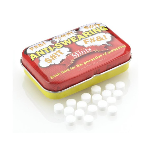 Boxer Joke Tin Of Anti Swearing Mints Novelty Funny Naughty Gag