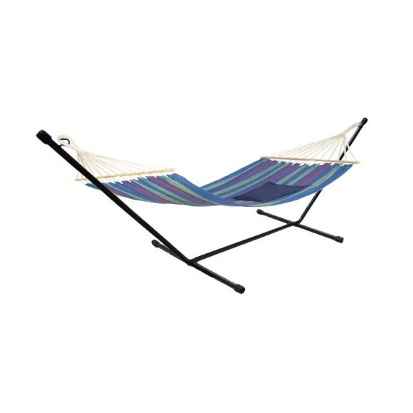 TMS® Hd Steel Hammock Stand Travel Camping Rv Outdoor Swing Yard Deck Patio Carry Bag