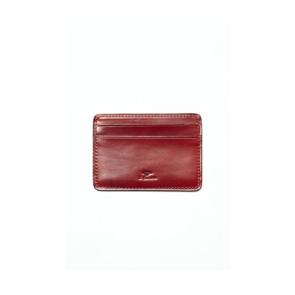 Il Bussetto Men's Three Slot Credit Card Wallet One Size Red