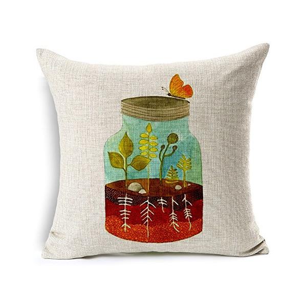 "Heartybay® Cartoon Floral Birds Hand Painted Bird Pillow Covers 18""x18"""