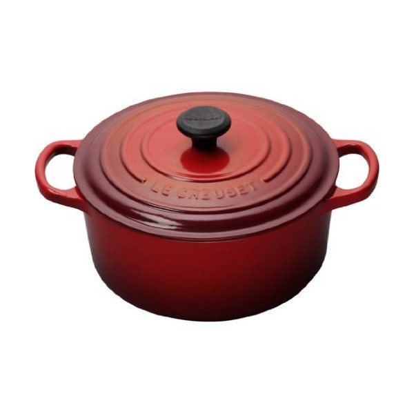 Le Creuset Signature Enameled Cast-Iron 3-1/2-Quart Round French (Dutch) Oven, Cherry