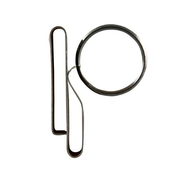ZAK Tool ZT-52 Low Profile Key Ring Clip, Black 2-pack