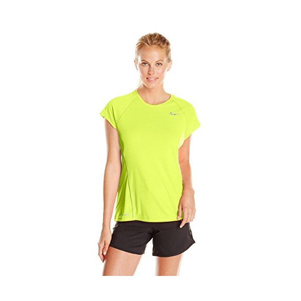 Saucony Velocity Short Sleeve, Vizipro Citron, Medium