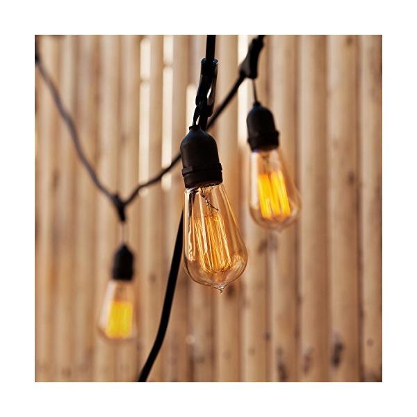 Heavy Duty Vintage Bushwick Filament 10-Bulb Connectable String Lights