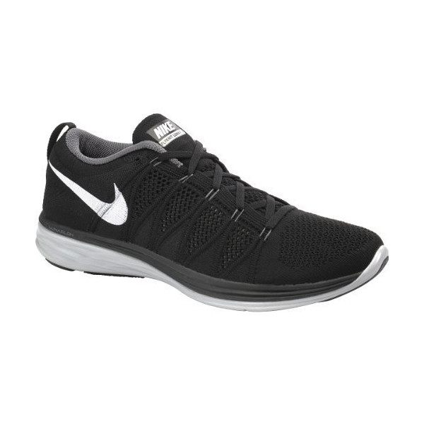 NIKE Men's Flyknit Lunar2 Running Shoes - Size: 12, Black/white