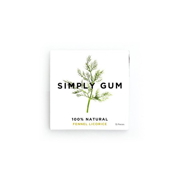 Simply Gum Fennel Licorice, 6 Packs
