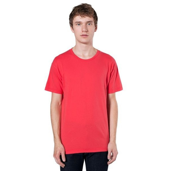 American Apparel Power Washed Tee, Red Punch