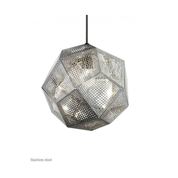 Etch Pendant Light - 110 - 125V (for use in the U.S., Canada etc.), stainless steel