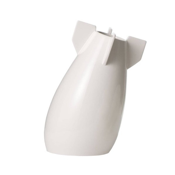 MollaSpace Peaceful Bomb Vase, White