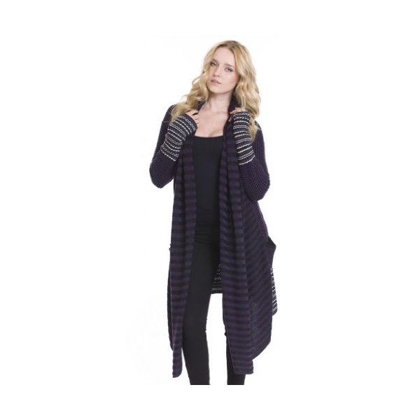 Tahoe Cozy Casual Long Open Cardigan Knit Sweaters Women by One Grey Day Navy-L