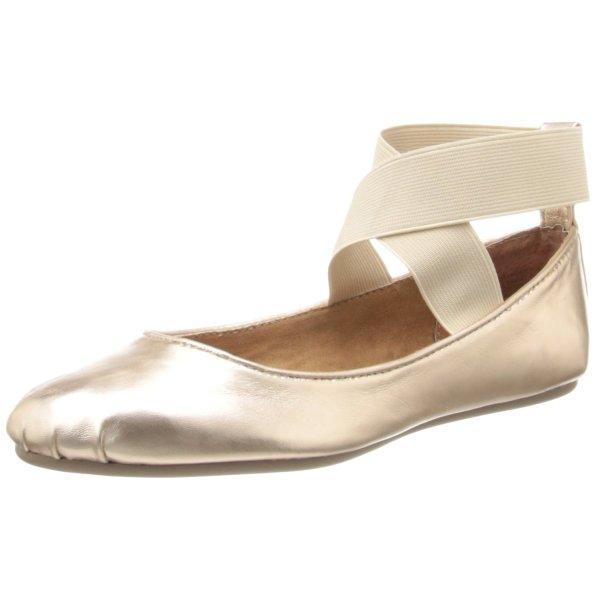 Corso Como Women's Femme Ballet Flat,Rose Gold Silk Calf,7.5 M US