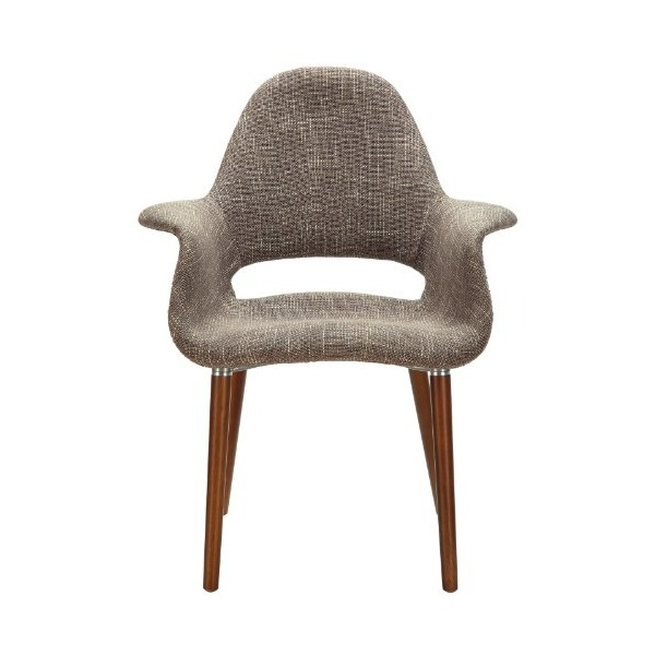 LexMod Veer Taupe Accent Chair