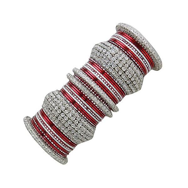 Banithani Bridal Wedding Bangle Set Bollywood Bracelet Kada Jewelry Gift For Her 2*6