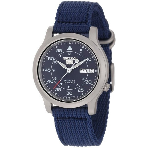 Seiko 5 Automatic Blue Canvas Strap Watch