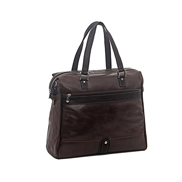 Piel Leather Vintage Travel Tote, Vintage Brown, One Size