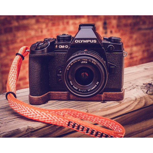 Premium Wood Grip-Base for Olympus OM-D E-M1 by J.B. Camera Designs - Made in the USA