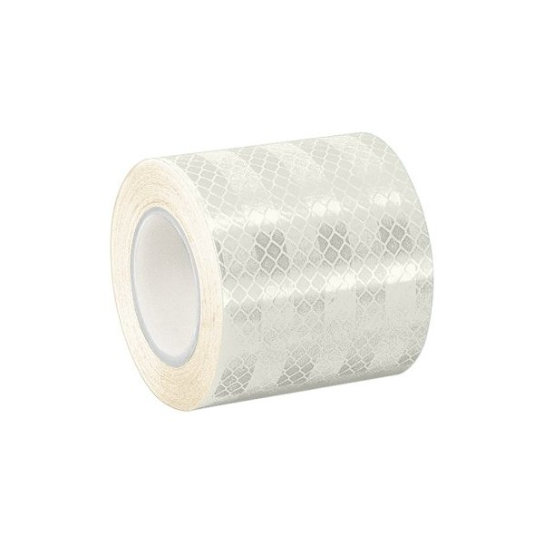 "TapeCase White Micro Prismatic Sheeting Reflective Tape Converted from 3M 3430, 1.5"" x 5 yd"