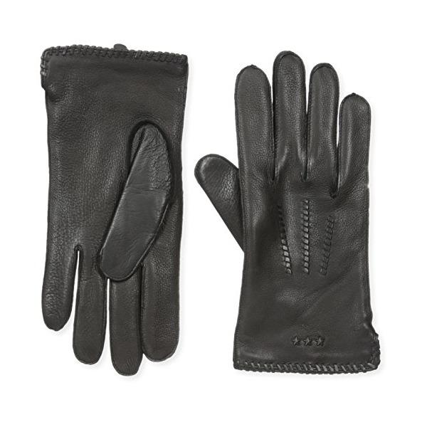 John Varvatos Star U.S.A Men's Whip Stitch Basic Glove, Black, Small