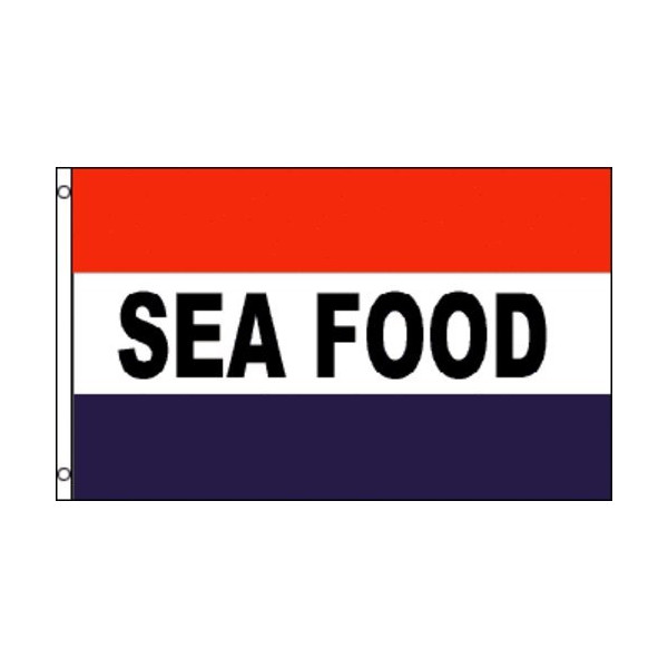 SEA FOOD Flag Restaurant Store Banner Advertising Pennant Business Sign New 3x5