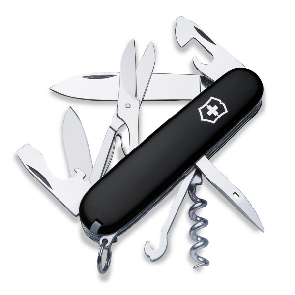 Victorinox Swiss Army Climber Pocket Knife, Black