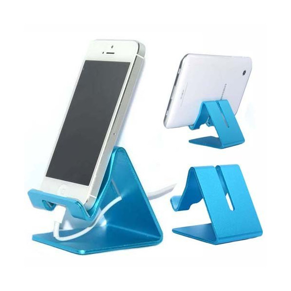 Sunvito Solid Aluminum Metal Desktop Stand for E-book iPhone6 6+ iPad Touch Mini iPhone HTC Samsung Tablet (Blue)
