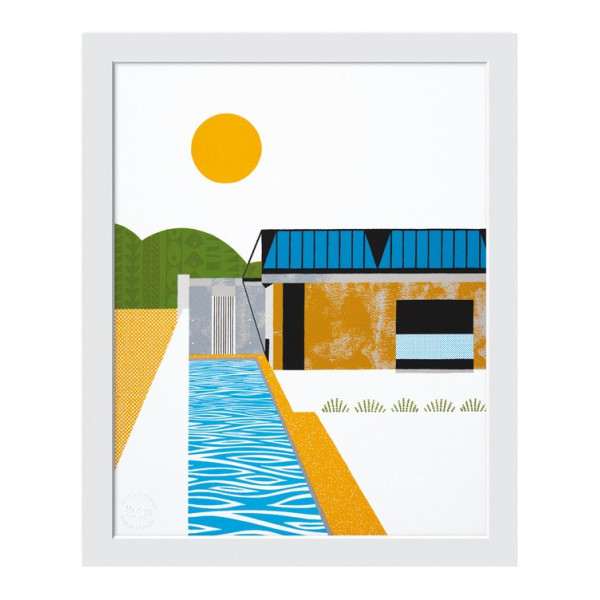 House of Earth and Light Print, White Frame